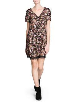 Blumenkleid mit spitze - Kleider für Damen | OUTLET