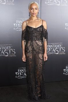 Zoe Kravitz in Alexander McQueen at the Fantastic Beasts And Where To Find Themworld premiere at Alice Tully Hall, Lincoln Center in New York City. About Last Night: Zoe Kravitz Goes Bleach Blond; Kate Beckinsale Sizzles in Red | Pret-a-Reporter
