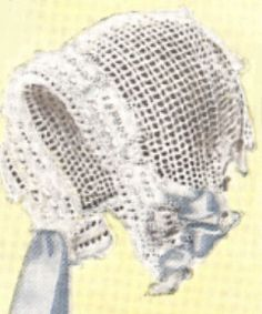 1920 Antique Baby Cap Hat Bonnet Crochet Pattern 1920BabyJean