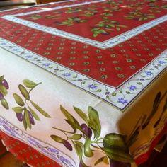Charming Olive U0026 Lavanda Italian Market Tablecloth