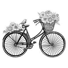 Add a quaint country theme to your crafting projects with this darling rubber stamp. Featuring a depiction of a vintage bike adorned with flowers, this unmounted stamp lets you create beautiful images