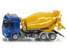 The 1/50 Concrete Mixer from the Siku Super Series - Discounts on all Siku Diecast Models at Wonderland Models.    One of our favourite models in the Siku Super Series Construction range is the Siku Concrete Mixer.    Siku manufacture wonderful, amazingly accurate and detailed diecast models of all sorts of vehicles, particularly construction vehicles including this Concrete Mixer which can be complemented by any of the items in the Super Series range.