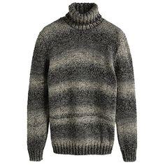 Pullover mit Rollkragen - Schöner grauer Pullover von Casual. Der warme Grobstick Pullover hat ein schönes Ringelmuster und einen Rollkragen. - ab 24,99€