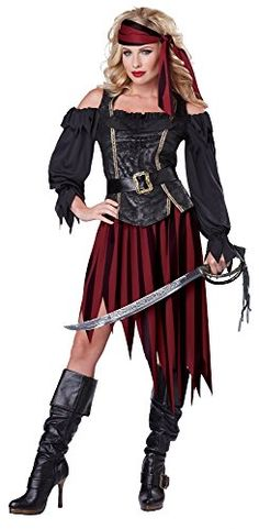 California Costumes Women's Queen Of The High Seas Sexy Pirate Swashbuckler Buccaneer, Black/Burgundy, Medium California Costumes http://www.amazon.com/dp/B00J48WVMY/ref=cm_sw_r_pi_dp_JhFJvb05Z2CDC