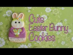 How to make a bunny cookie - Rabbit cookie tutorial