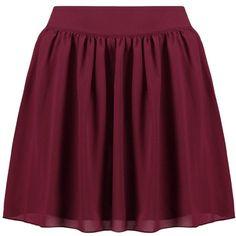 Boohoo Sari Chiffon Skater Mini Skirt ($26) ❤ liked on Polyvore featuring skirts, mini skirts, purple mini skirt, chiffon midi skirt, holiday skirts, embellished mini skirt and mid calf skirts