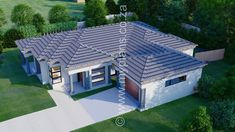 3 Bedroom House Plan - My Building Plans South Africa 4 Bedroom House Plans, My House Plans, My Building, Building Plans, House Plans South Africa, Tuscan House, Dream House Exterior, Open Plan, Mlb