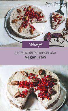 """Es muss ja nicht immer klassischer Lebkuchen sein, oder? Warum nicht mal Lebkuchen als Käsekuchen. """"Klar doch!"""", dachte ich mir und somit ist ein veganer Lebkuchen Käsekuchen entstanden. Raw Vegan, Camembert Cheese, Healthy Lifestyle, Cheesecake, Christmas, Food, Ginger Beard, Vegans, Vegane Rezepte"""
