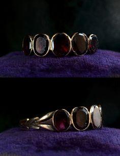 My birthstone...1830-40s English Foiled Garnet Ring, 15K Gold