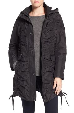 Laundry by Shelli Segal Shirred Raincoat available at #Nordstrom