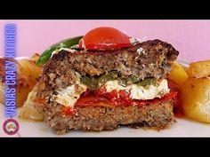 Πεντανοστιμο Ρολο Κιμας Γεμιστο Χωριατικο – Ευκολο Μεσογειακο Ρολο Με Κιμα Στη Φορμα Απλη Συνταγη - YouTube Snacks For Work, Lunch Snacks, Macaroni Pie, Turkey Meatloaf, Dried Cranberries, Granola Bars, Dinner Rolls, Food To Make, Vegan Recipes