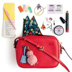 J.Crew Signet Bag in Italian Leather in Festival Red