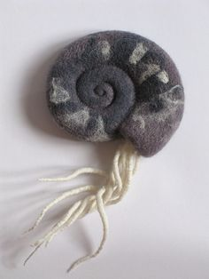 "Felted brooch ""Nautilus"" by lolkins_marusya, via Flickr - This is stunning, and SO unusual!"