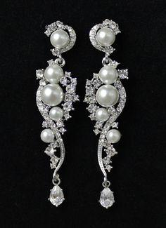 Wedding Bridal Jewelry Chandelier Wedding Earrings by JamJewels1, $52.00