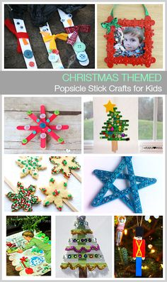 Christmas Themed Popsicle Stick Crafts for Kids: Use craft sticks to make picture frame ornaments, snowmen, stars, Christmas trees, and more! Diy Christmas Star, Christmas Arts And Crafts, Preschool Christmas, Christmas Activities, Homemade Christmas, Christmas Themes, Kids Christmas, Holiday Crafts, Christmas Ornaments