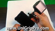 www.UniGripPro.com UniGrip Pro Universal Smartphone Mounting System Light Kit Package Camera Store, Selfie Stick, Ipad Air, Tripod, Protective Cases, A Table, Smartphone, Packaging, Kit