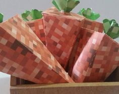 Minecraft, Cone, Gift Wrapping, Tableware, Crates, Stationery Shop, Made By Hands, Creativity, Stuffing