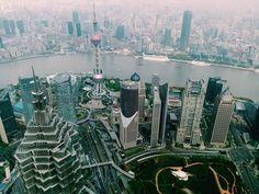 俯瞰黃埔江 #上海金融中心