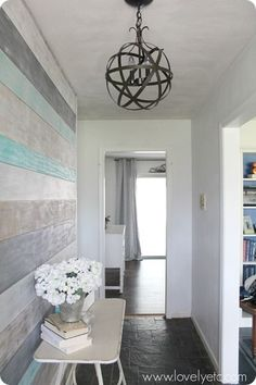 """Love this, but don't think the Target orb option (15"""") would be big enough for our entry... Hmmm. / DIY foyer"""