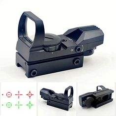 Toreal Tactical Reflex Holographic Red Green Adjustable Dot Sight wRail Mount for Airsoft Gun Outdoor Shooting *** You can get additional details at the image link.