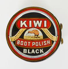 "Kiwi Black Boot Polish - ""spit and polish"" as Dad would say!"