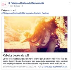 NEW POST IN BLOG: http://ofabulosodestinodemariaamelia.pt/cabelos-depois-do-sol/
