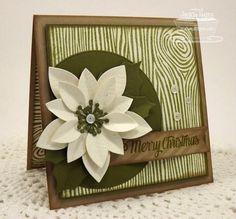 card MFT poinsettia Die-namics Merry Christmas Poinsettia MFT woodgrain background stamp #mftstamps