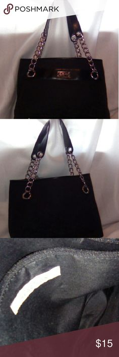 Kenneth Cole bag Kenneth Cole Reaction bag medium size black made of man-made fabric straps are part linked gold chain and black leather no rips or tears... Bags Shoulder Bags
