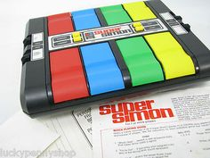 Vintage Super Simon Electronic Memory Game http://www.luckypennyshop.com/toys.htm