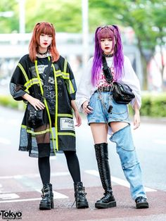 Japanese Streetwear Styles w/ (ME) Harajuku Open The Door .- Japanese Streetwear Styles w/ (ME) Harajuku Open The Door Never Mind the XU D -Trendsforecasting Trendsvintage Estilo Harajuku, Harajuku Mode, Harajuku Girls, Harajuku Style, Japan Street Fashion, Tokyo Fashion, Harajuku Fashion, Kawaii Fashion, Fashion News