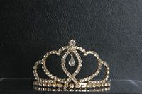 Girls Rhinestone Tiara Style M_0567- Choice of Gold or Silver