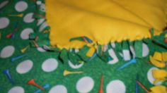 FORE  Golf Ball Pattern Love Knot Blanket. Perfect Christmas present for the golfer in your life. by tobeesgifts, $28.95