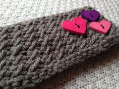 Toddler 24mo  3T Valentines Headband/Earwarmer by Jessmiloo, $12.00