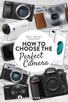 Travel Camera: Wondering how to choose the perfect travel camera? Here are out top recommendations for the best dslr, mirrorless, point and shoot, and action cameras