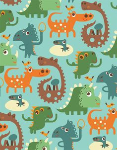 Repeat Pattern Characters on Behance