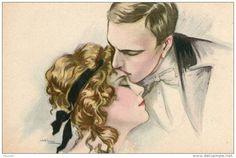 signée BUSI : SERIE LES BAISERS : baiser sur le front
