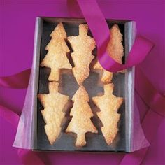 This quick recipe creates festive puff pastry trees that really melt in the mouth - give as a gift or keep in the tin at home. Tree Cookies, Fun Cookies, Christmas Makes, Xmas, Christmas Tree, Sugar Puffs, Edible Christmas Gifts, Food Festival, Winter Festival