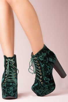 JEFFREY CAMPBELL LITA BOOTS in Gr...