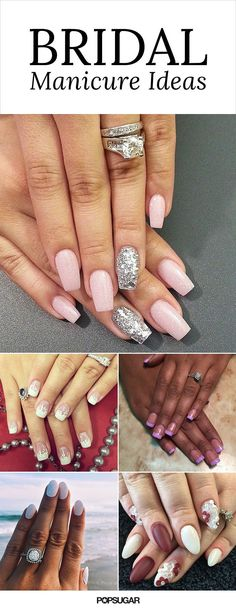 Flaunt fancy fingers on your wedding day with these bridal nail art ideas.