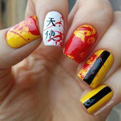 Kill Bill nail art
