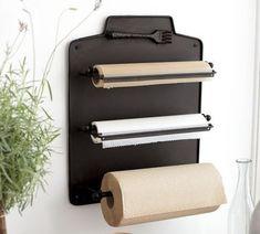 Aluminum foil, wax paper, etc. dispenser inside the pantry. great idea