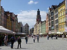 Am Ring (Rynek) in Breslau im Sommer