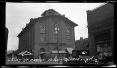 "The pictures reads ""Cross Street Market and Hall Charles Street and Cross Street"" Baltimore, Maryland ca. 1926-1927 Unidentified photographer 5.25x3 inch black and white film negative Baltimore...I believe it is Hollins Street Market."