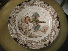 Johnson Brothers Wild Turkey Flying Dinner Plate