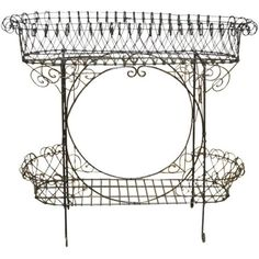 Black French Wire Plant Stand ($650) ❤ liked on Polyvore featuring home, home decor and planters