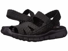 Women's Shoes Bernie Mev. Cindy Casual Woven Slingback Sandals Black