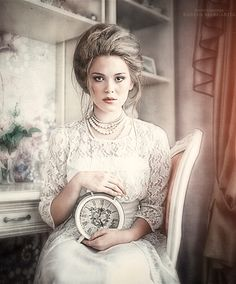 Fairytale Photos By Margarita Kareva // the watch could be representing the theme of time and as it is white it reminds me of the White Rabbit in Alice in Wonderland.