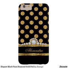Shop Elegant Black Faux Diamond Gold Foil Case-Mate iPhone Case created by Zizzago. Iphone 5 6, Iphone 6 Plus Case, Best Iphone, Samsung Cases, Iphone Cases, Gold Foil, Ipad Mini, 6s Plus, Elegant