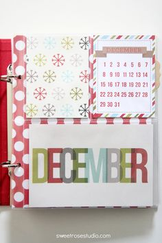 December Daily: The starting spot for a Project Life Christmas album!