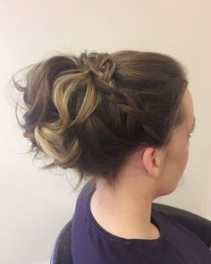Plaits and curls up-style